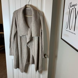 CAbi oatmeal confetti open front cardigan size med